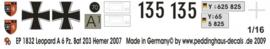 EP 1832 Leopard A 6 Panzer Paz Bat 203 Hemer 2007