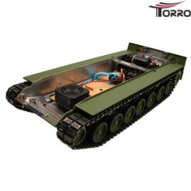 Leopard 2A6 gespoten metalen onderbak incl. elektronica