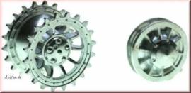 Tiger1 H-L metalen aandrijf/spanwielen, vroege versie