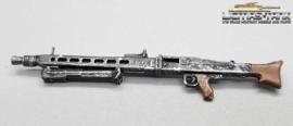 1/16 MG 42 german machine gun WW2 painted metal with folded bipod