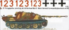 EP 1794 Jagdpanther 2 sch. Pz.Jaeg. Abt 654 Grafenwaehr 44