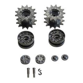 Metalen aandrijf- en spanwielen Sherman HL/Taigen, 1:16
