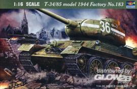 Trumpeter: T-34/85 1944 Bouwnummer 183 in 1:16