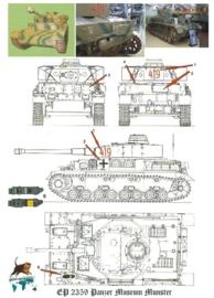 EP 2359 Panzer IV Ausf F Museum Munster schaal 1:16
