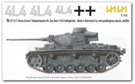 EP 1377 Panzer III Ausf. J Stabskompanie Das Reich Jan 43
