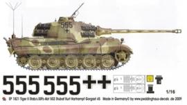 EP 1821 Tiger II Stab/s.SS Pz.abt 502 Stubaf Kurt Hartrampf