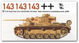 EP 1381 Panzer III Ausf. L S. Pz Abt. 504 Tunesien 1943