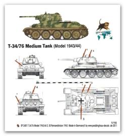 EP 2401 Beutepanzer T34/76 , 2 SS Panzerdiv.
