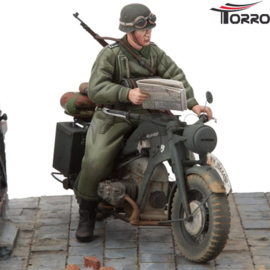 1/16 Kit Motorcycle Zündapp KS-750/1 Solo with Trooper