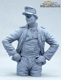 German Tank Crew Loader Normandy 1944 Half Body Figure not painted