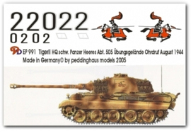 EP 0991 Tiger II HQ Schw. Heeres Panzer Abt 505