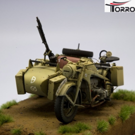 1/16 Kit Motorcycle Zündapp KS-750 with Sidecar