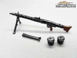 1/16 MG 42 german machine gun set Wehrmacht WW2 painted metal