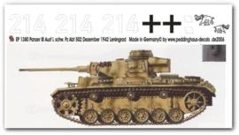 EP 1380 Panzer III s. Pz. Abt. 502 Leningrad 1942