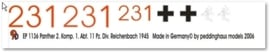 EP 1136 Panther 2. Komp. 1. Abt. 11. PZ.Div 1945 Reichenbach