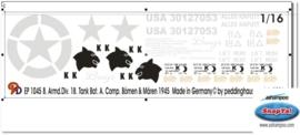 EP 1045 Pershing T 26 8. Armd. Div. 18.Tank Bat. Bömen & Mären 19
