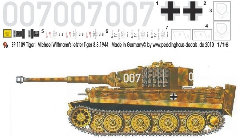 EP 1109 Wittmann laatste Tiger 2 SS Pz Abt 8. aug. 1944