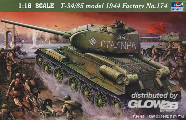 Trumpeter: T-34/85 1944 Bouwnummer 174 in 1:16