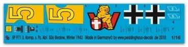 EP 0971 3. Komp. Schw. Heeres Panzer Abt. 506 Ukraine 1943