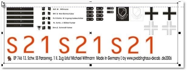 EP 0746  Decal S21 Wittmann