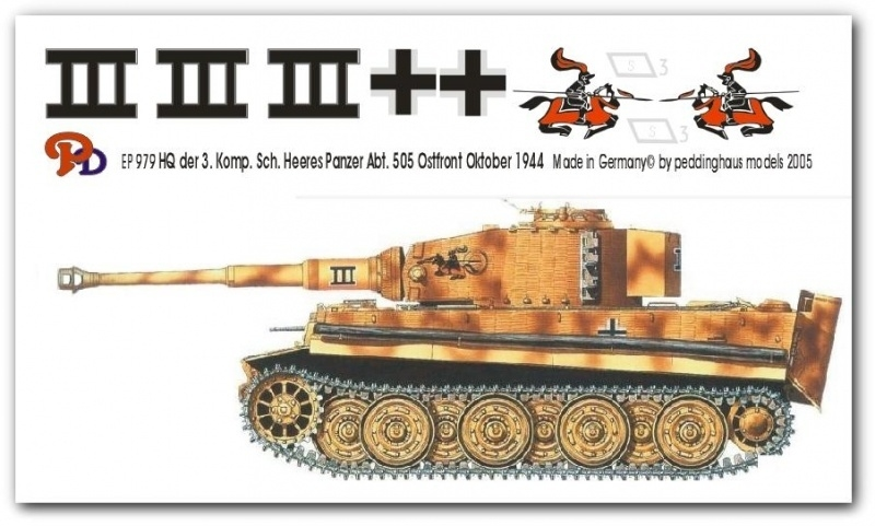 EP 0979 Tiger I 3. Komp. schw. Heeres Pz Abt 505