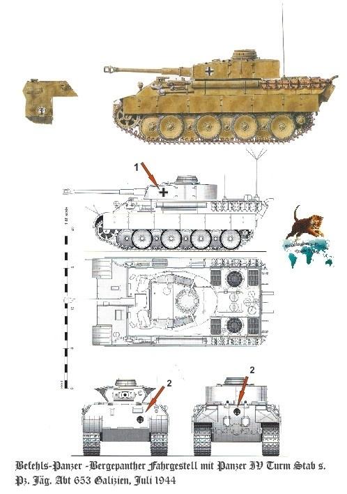EP 2443 Befehls-Panther s.Pz.Jäg.Abt. 653 Galizien
