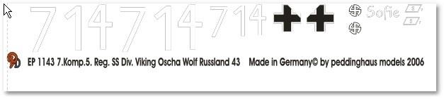 EP 1143 Panther 7. Komp. 5. Reg. Div Wicking Oscha Wolf Russland 1943