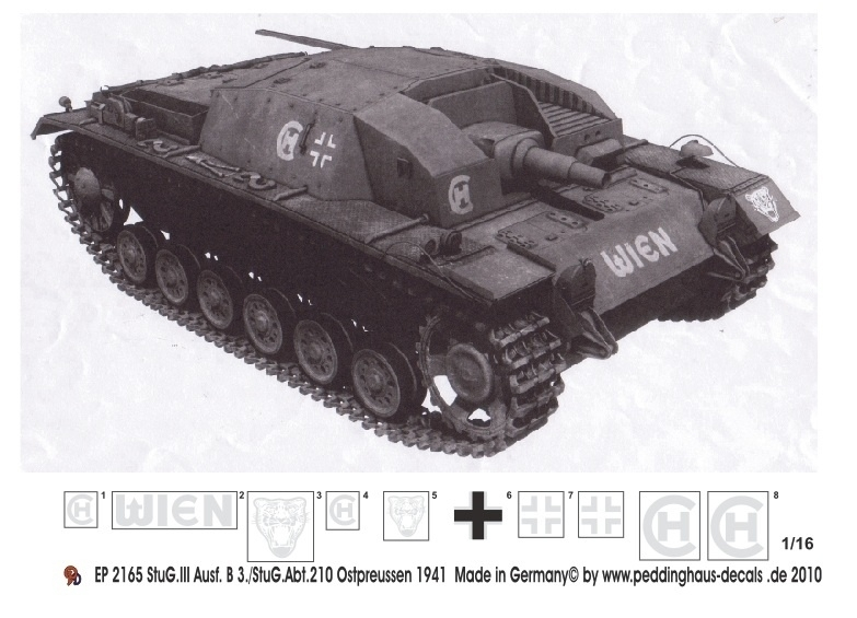 EP 2165 Stug III Ausf B Abt 210 Ostpreussen 1941