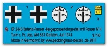 EP 2443 Befehls-Panzer Panther /Panzer IV Hybrid s. Pz. Jäg Abt 653 Galizien