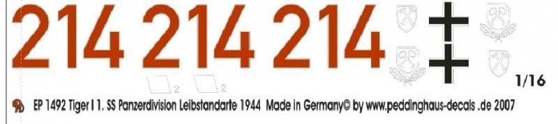 EP 1492 Tiger I 1. SS Div. Leibstandarte 1944