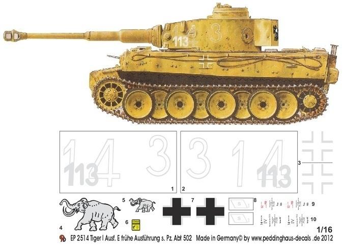 EP 2514 Tiger I frühe Ausführung s. Pz. Abt 502