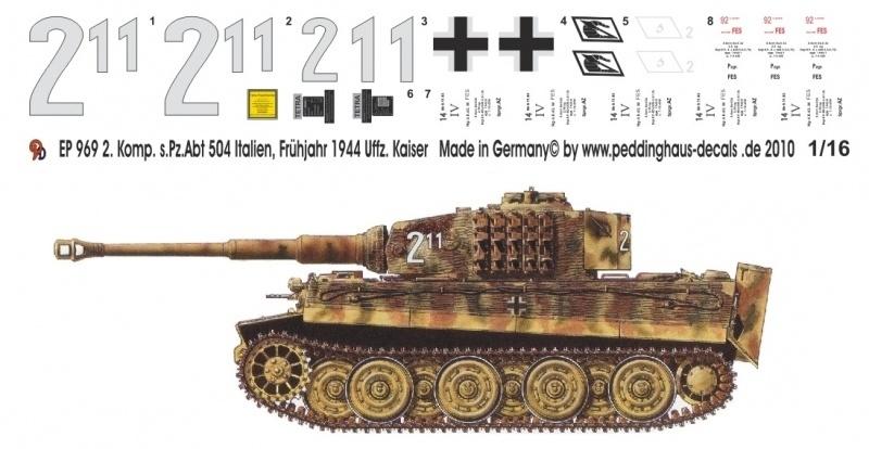 EP 0969 Tiger 1,  2. Komp. 504 Italien