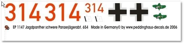 EP 1147 Jagdpanther schwere Panzerjaegerabt. 654