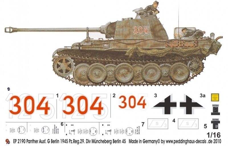 EP 2190 Panther Ausf. G Berlin 45 Div Müncheberg