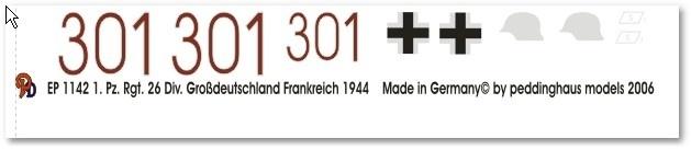 EP 1142 Panther 1. Pz Reg. Div. Großdeutschland Frankreich 1944