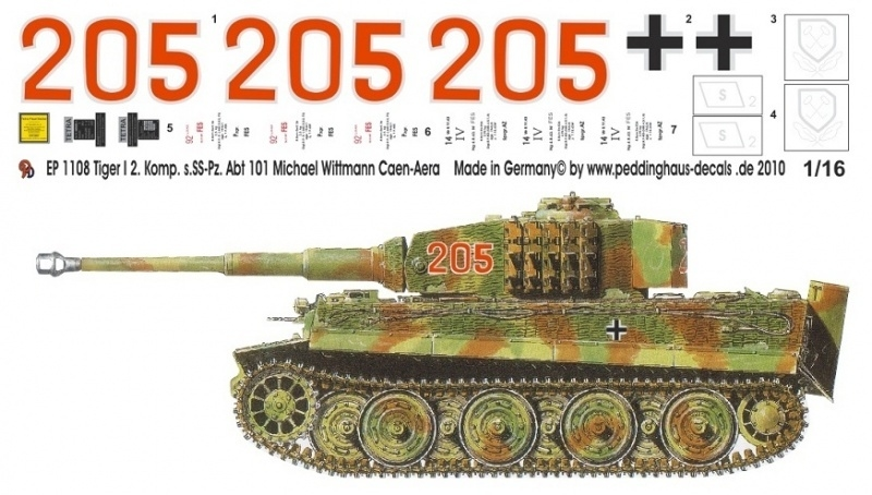 EP 1108 Wittmann Tiger1 2. SS Pz Abt. 101 Juni 1944