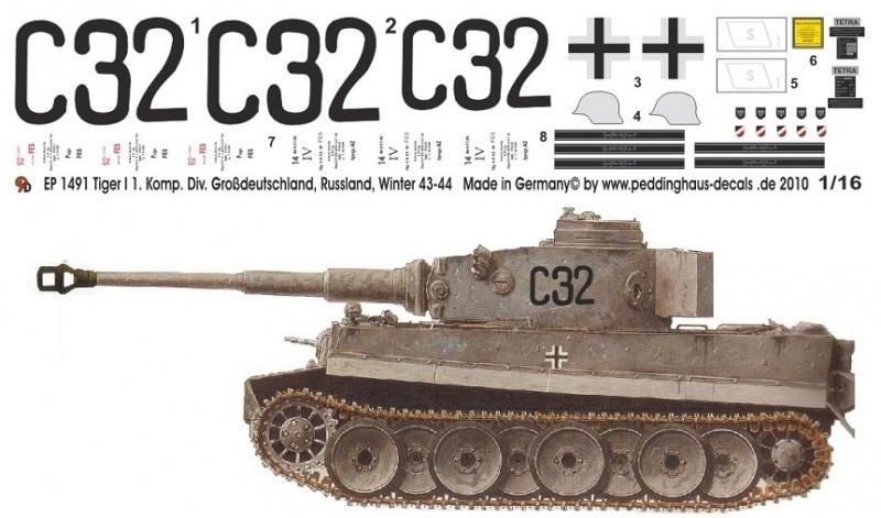 EP 1491 Tiger I Division Grossdeutschland Russland
