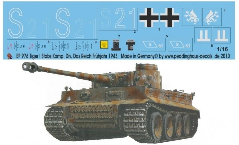 EP 0976 Tiger I Stabskomp. Das Reich