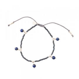 A BEAUTIFUL STORY Dreamy Lapis Lazuli Silver bracelet