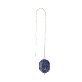 A BEAUTIFUL STORY Elegant Lapis Lazuli sterling silver plated earring
