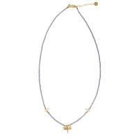 A BEAUTIFUL STORY Wildflower Moonstone Gold Necklace