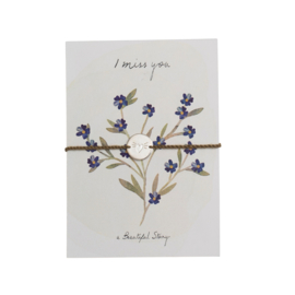 A BEAUTIFUL STORY Jewelry postcard forget my not