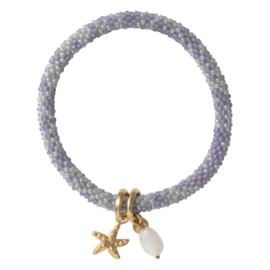 A BEAUTIFUL STORY Bracelet Jacky multi color moonstone gold