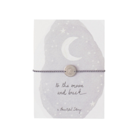 A BEAUTIFUL STORY  Jewelry postcard moon