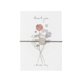 A BEAUTIFUL STORY  Jewelry postcard flowers