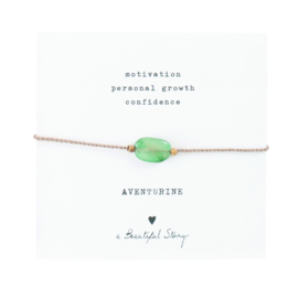 A BEAUTIFUL STORY Gemstone card Aventurine bracelet