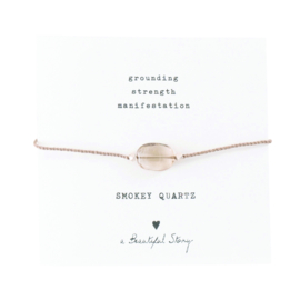 A BEAUTIFUL STORY Gemstone card Smokey quartz bracelet