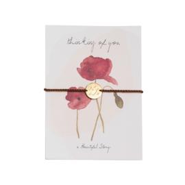 A BEAUTIFUL STORY Jewelry postcard poppy