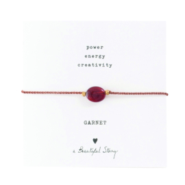 A BEAUTIFUL STORY Gemstone card Garnet bracelet
