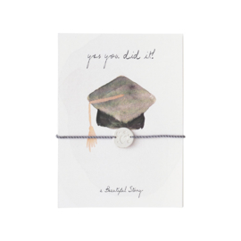 A BEAUTIFUL STORY  Jewelry postcard graduation